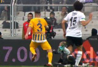Beşiktaş-Ankaragücü maçında penaltı tartışması