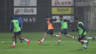 Fenerbahçe antrenmanında Falette sürprizi