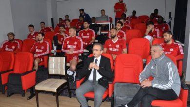 Sivasspor'a koronavirüse karşı bilgilendirme