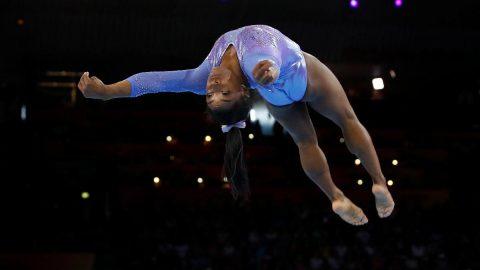ABD`li cimnastikçi Simone Biles tarihe geçti! Rekor...