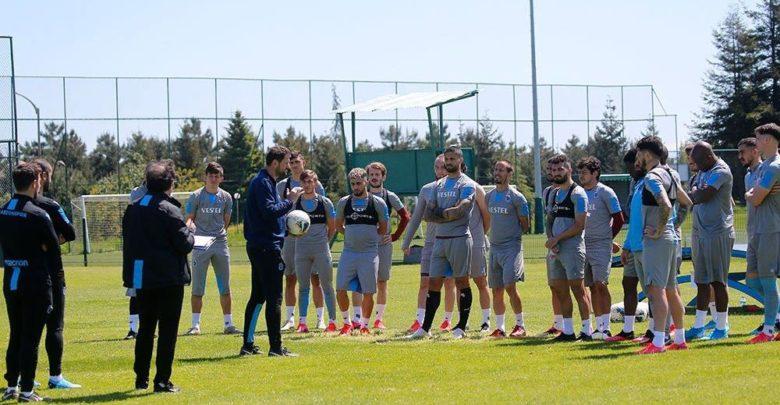 Trabzonspor antrenmanında yüzler gülüyor